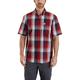 Essential Plaid Button Down Short-Sleeve Shirt