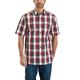 Essential Plaid Open Collar Button Down Short-Sleeve Shirt