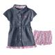 Knit Denim Dress Set