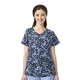 Printed Cross Flex V-Neck Media Scrub Top