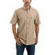 LOOSE FIT MIDWEIGHT SHORT-SLEEVE BUTTON-FRONT SHIRT