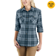 Rugged Flex Slightly Fitted Long-Sleeve Plaid Shirt