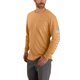 Carhartt Relaxed Fit Heavyweight Long-Sleeve Pocket Logo Graphic T-Shirt