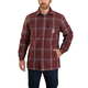 Carhartt Relaxed Fit Flannel Sherpa-Lined Snap-Front Plaid Shirt Jac