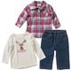 3 Piece Flannel Shirt Set