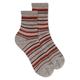 Merino Wool Stripe Mid Crew Sock