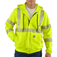 Flame-Resistant Heavyweight High-Visibility Class 3 Hooded Zip-Front Sweatshirt