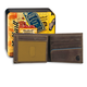 Two-Tone Billfold with Wing Wallet with Collectible Tin