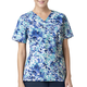 Y-Neck Print Scrub Top