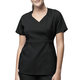 3-Pocket Mock-Wrap Scrub Top