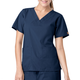 V-Neck Two-Pocket Scrub Top