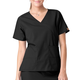 Mock Wrap Two-Pocket Scrub Top