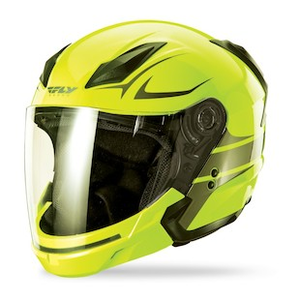 Fly Racing Tourist Solid Helmet Gloss Black