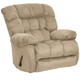 Catnapper Teddy Bear Chaise Swivel Glider Recliner in Hazelnut