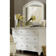 aspenhome Cambridge Double Dresser with Mirror in Eggshell
