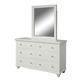 aspenhome Cambridge Kid's Dresser with Mirror in Eggshell