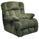 Catnapper Cloud 12 Lay Flat Chaise Recliner in Sage with Power Option