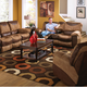 Catnapper Portman Reclining Console Loveseat with Power Option