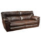 Catnapper Nolan Extra Wide Leather Reclining Sofa in Godiva with Power Option