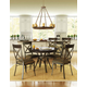 Amisco Kai Round or Square Wood Top Dining Table