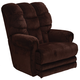 Catnapper Malone Lay Flat Recliner in Vino with Extended Ottoman and Power Option