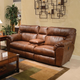 Catnapper Nolan Extra Wide Reclining Console Loveseat in Chestnut with Storage and Power Option