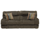 Catnapper Siesta Lay Flat Reclining Sofa in Chocolate with Power Option
