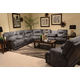 Catnapper Voyager Lay Flat Reclining Sectional in Slate