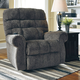 Signature Design by Ashley Ernestine Power Lift Recliner in Slate