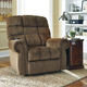 Signature Design by Ashley Ernestine Power Lift Recliner in Truffle
