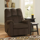 Signature Design by Ashley Raulo Rocker Recliner in Chocolate