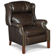 Hooker Furniture Sicilian Cipriani Leather Recliner with Nailheads