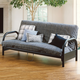 Hillsdale Furniture Geneva Futon in Black