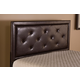 Hillsdale Furniture Becker Headboard with Bed Frame in Brown Faux Leather Twin Size