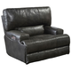 Catnapper Wembley Leather Power Lay Flat Recliner with Power Recline and Power Headrest in Steel