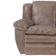 Catnapper Aria Leather Power Lay Flat Recliner in Smoke