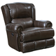 Catnapper Duncan Leather Power Deluxe Lay Flat Recliner in Chocolate