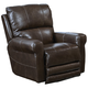 Catnapper Hoffner Leather Power Lay Flat Recliner in Chocolate