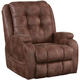 Catnapper Jenson Leather Power Lift Lay Flat Recliner with Dual Motor in Almond