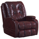 Catnapper Jenson Leather Power Lift Lay Flat Recliner with Dual Motor in Burgundy