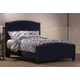 Hillsdale Furniture Kerstein Fabric Upholstered Bed in Navy Linen Full Size