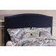 Hillsdale Furniture Kerstein Fabric Upholstered Headboard with Bed Frame in Navy Linen Queen Size