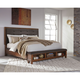 Signature Design by Ashley Ralene King Size Upholstered Bed with Storage Footboard