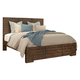 aspenhome Dimensions King Block Panel Bed in Spiced Rum