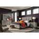 aspenhome Hyde Park Cal King Painted Panel Storage Bed