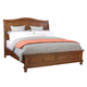 aspenhome Oxford Cal King Sleigh Storage Bed in Whiskey Brown