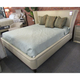 Clearance Hickory White Transitions King Upholstered Wing Bed OVFCR0418089