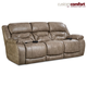 HomeStretch Enterprise Power Sofa with Power Headrest and Power Lumbar Foot Extension in Mushroom