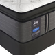 Sealy Posturepedic Response Premium Barrett Court IV Cushion Firm Pillow Top Queen Size Mattress with Ease 2.0 Adjustable Base