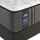 Sealy Posturepedic Response Premium Barrett Court IV Cushion Firm King Size Mattress with Ease 2.0 Adjustable Base
